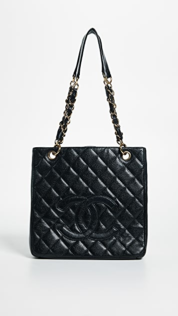 What Goes Around Comes Around Chanel PST Tote (Previously Owned) - Black