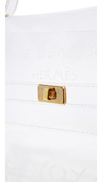 What Goes Around Comes Around Hermes Clear Vinyl Kelly 公文包(二手)