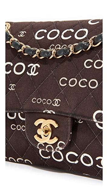 What Goes Around Comes Around Chanel Twill Coco 2.55 Shoulder Bag (Previously Owned)