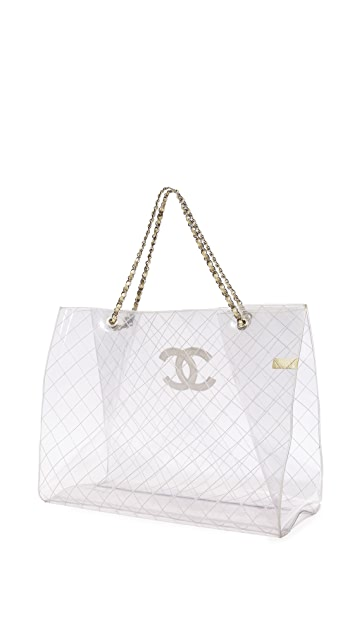 What Goes Around Comes Around Chanel Clear Vinyl Tote (Previously Owned)
