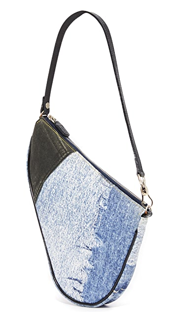 What Goes Around Comes Around Dior Blue Denim Saddle Shoulder Bag (Previously Owned)