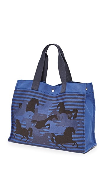 What Goes Around Comes Around Hermes Canvas Horse Tote (Previously Owned)