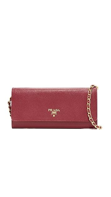 a268e45d Prada Saffiano Mini Shoulder Bag (Previously Owned)