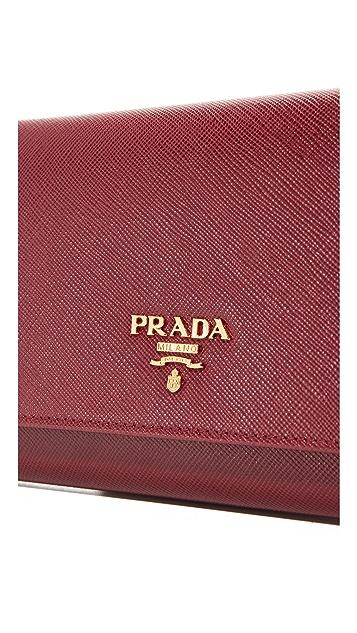 What Goes Around Comes Around Prada Saffiano Mini Shoulder Bag (Previously Owned)