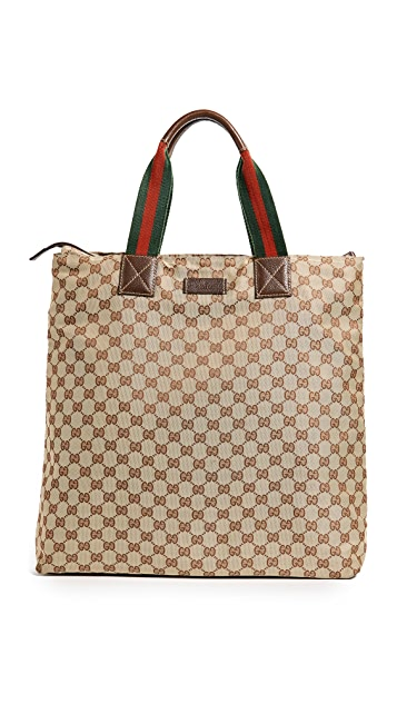 What Goes Around Comes Around Gucci GG Canvas Tote (Previously Owned)