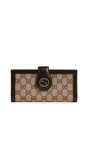 What Goes Around Comes Around Gucci GG Tab Wallet (Previously Owned)