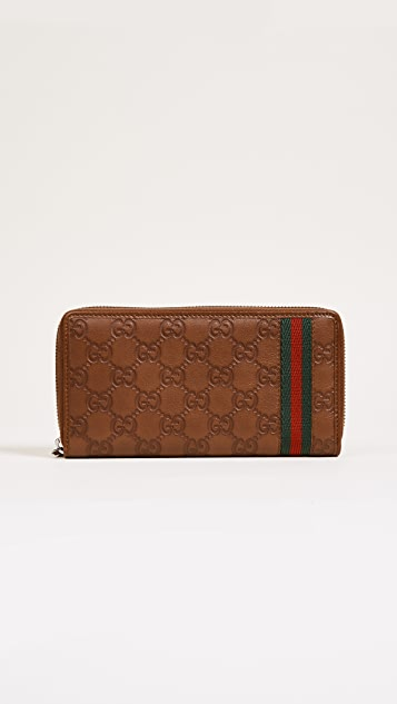 What Goes Around Comes Around Gucci Web Wallet (Previously Owned)