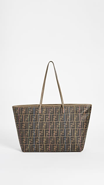 cdcb17d3fd61 What Goes Around Comes Around. Fendi Zucca Spalmati Roll Tote (Previously  Owned)