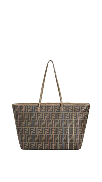 What Goes Around Comes Around Fendi Zucca Spalmati Roll Tote (Previously Owned)