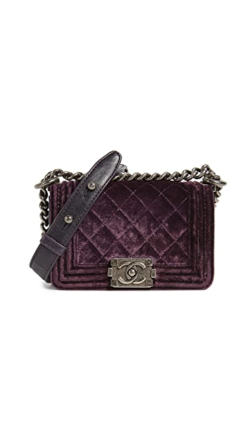 What Goes Around Comes Around Chanel Velvet Boy Mini Bag (Previously Owned)