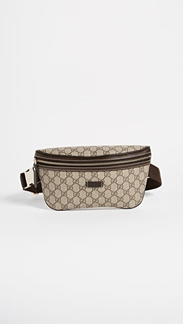 What Goes Around Comes Around Gucci Coated Canvas Waist Pouch (Previously Owned) - Brown