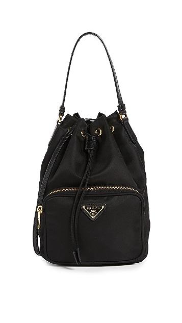 f5d8a241ec89 Prada Fabric Shoulder Bag Bucket | Stanford Center for Opportunity ...
