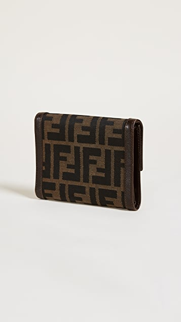 What Goes Around Comes Around Fendi Zucca Wallet (Previously Owned)