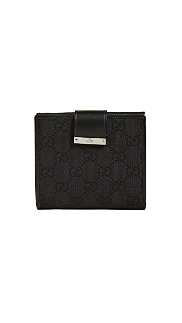 What Goes Around Comes Around Gucci Canvas Bifold Wallet (Previously Owned)