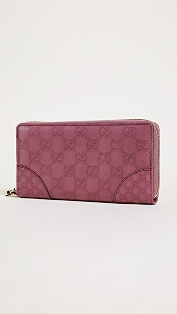 What Goes Around Comes Around Gucci Bree Guccissima Zip Wallet (Previously Owned)