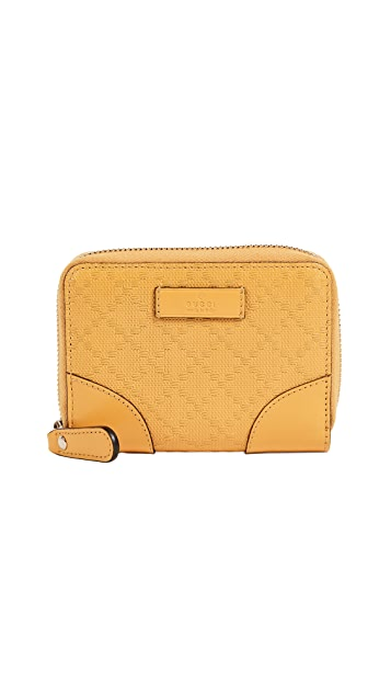 What Goes Around Comes Around Gucci Yellow Diamante Zip Wallet (Previously Owned)