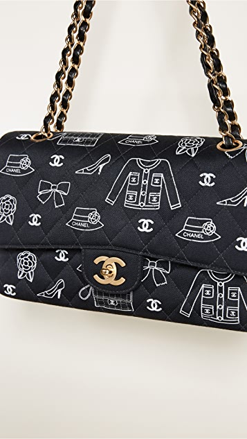 What Goes Around Comes Around Chanel Icon Canvas Classic 2.55 Shoulder Bag