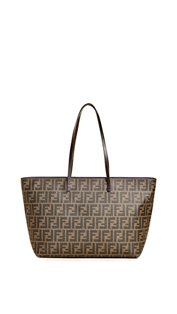 What Goes Around Comes Around Fendi Zucca Roll Tote (Previously Owned)