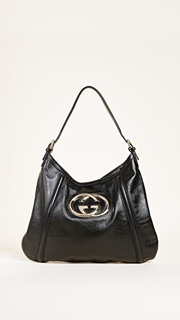 def3f7451043 What Goes Around Comes Around Gucci GG Britt Hobo (Previously Owned ...