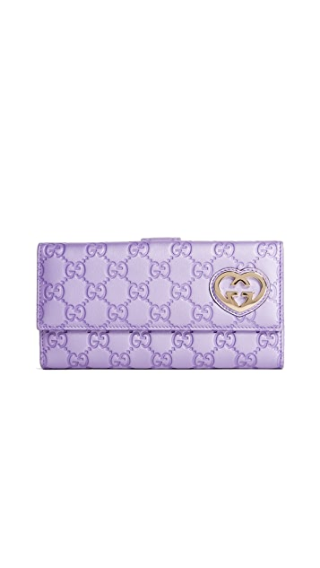 What Goes Around Comes Around Gucci Heart Wallet (Previously Owned)