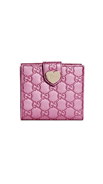 What Goes Around Comes Around Gucci Small Heart Wallet (Previously Owned)