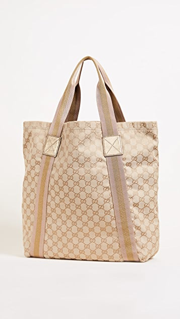 What Goes Around Comes Around Gucci Canvas Medium Tote (Previously Owned)
