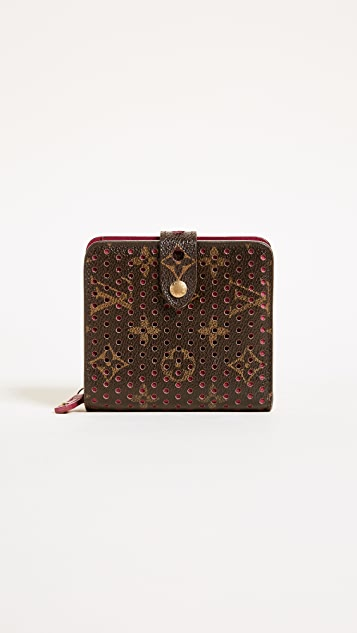 What Goes Around Comes Around Louis Vuitton Perforation AB Compact Zip Wallet (Previously Owned)