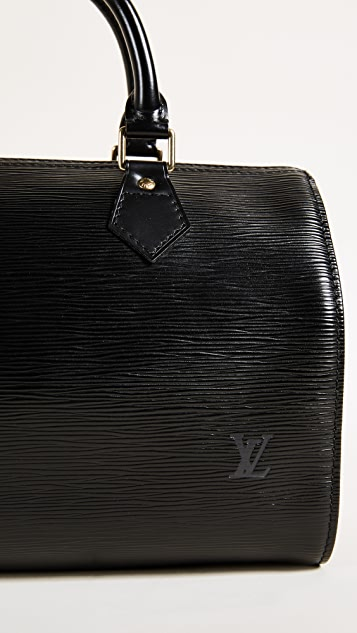 What Goes Around Comes Around Louis Vuitton Black Epi Speedy 25 Bag (Previously Owned)