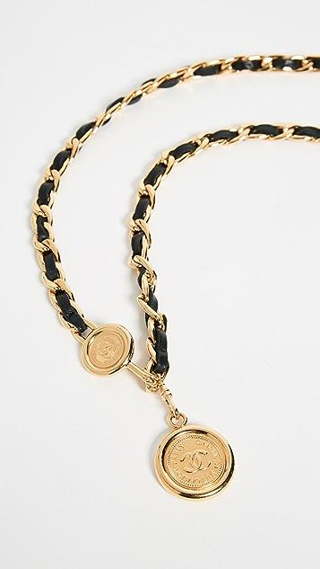 What Goes Around Comes Around Chanel Black Chain Belt