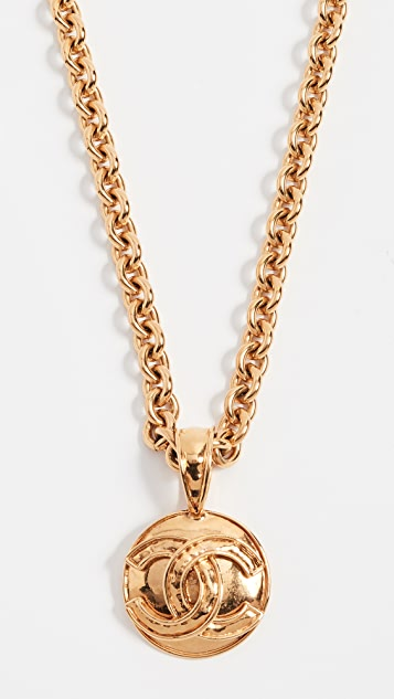 What Goes Around Comes Around Chanel Border CC Necklace