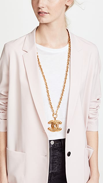 What Goes Around Comes Around Chanel Quilted Large CC Necklace
