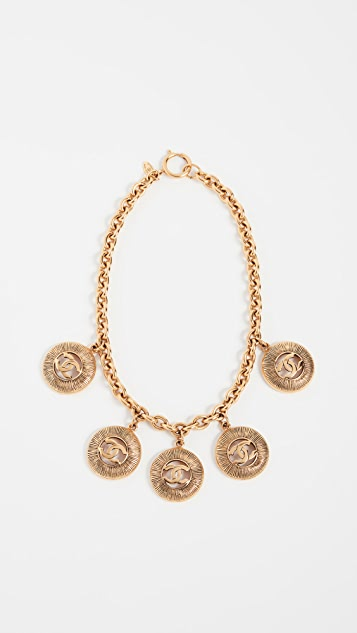 What Goes Around Comes Around Chanel CC Sunburst Necklace