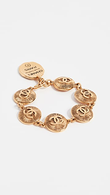 What Goes Around Comes Around Chanel CC Burst Coin Bracelet