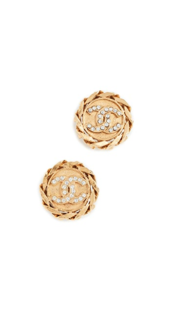 What Goes Around Comes Around Chanel Chain Border Clip On Earrings