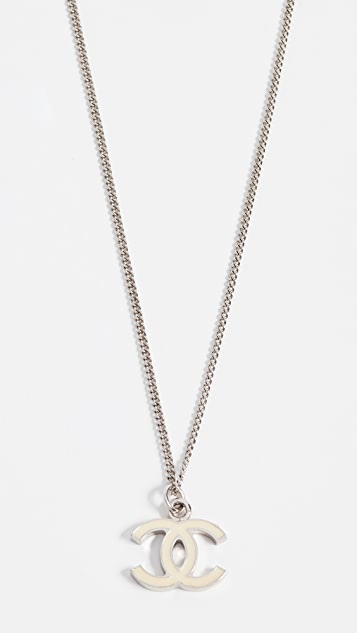 What Goes Around Comes Around Chanel Enamel CC Necklace