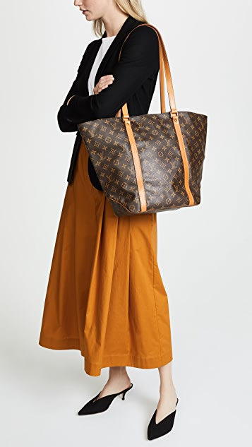 57934be912ad ... What Goes Around Comes Around Louis Vuitton Monogram Sac Shopping Tote  Bag ...