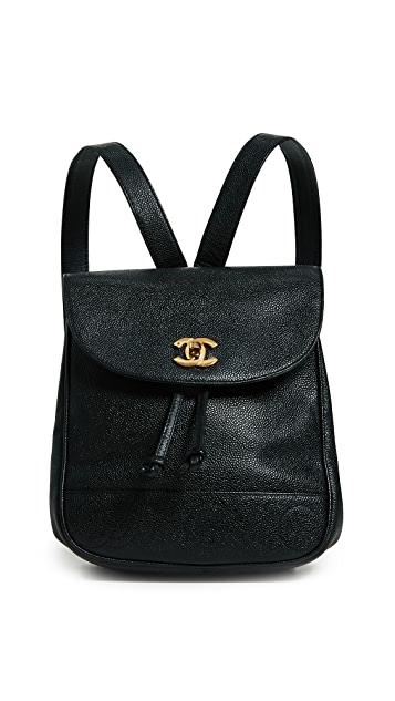 What Goes Around Comes Around Chanel Black Caviar 3CC Medium Backpack
