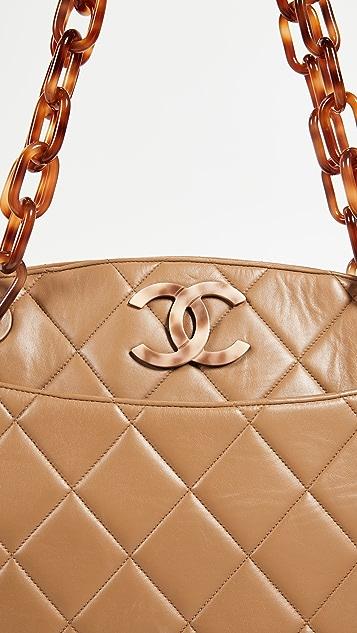 What Goes Around Comes Around Chanel Lambskin Turnlock Medium Tote Bag
