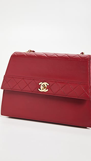 What Goes Around Comes Around Chanel Lambskin Trapezoid Bag