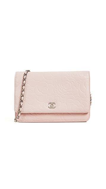 What Goes Around Comes Around Chanel Embossed Camilla Wallet on a Chain