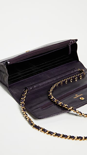 What Goes Around Comes Around Chanel Caviar Wallet on a Chain