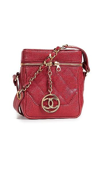 What Goes Around Comes Around Chanel Caviar Boxy Mini Cross Body Bag