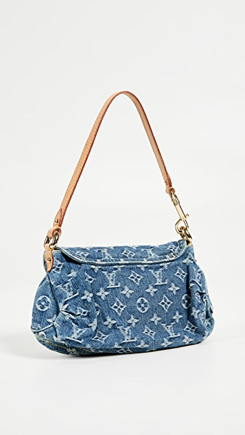 What Goes Around Comes Around Louis Vuitton Denim Pleaty Mini Shoulder Bag