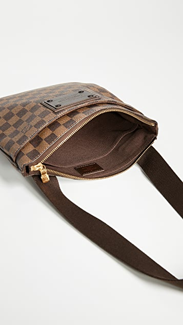 What Goes Around Comes Around Louis Vuitton Damier Ebene Pouch Plate Brooklyn