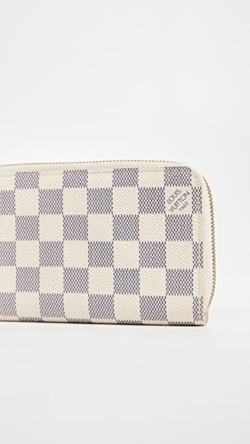 What Goes Around Comes Around Louis Vuitton Damier Ebene Azur Zippy Compact Wallet