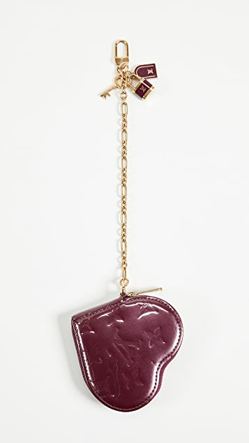 What Goes Around Comes Around Louis Vuitton Vernis Heart Coin Purse - Purple
