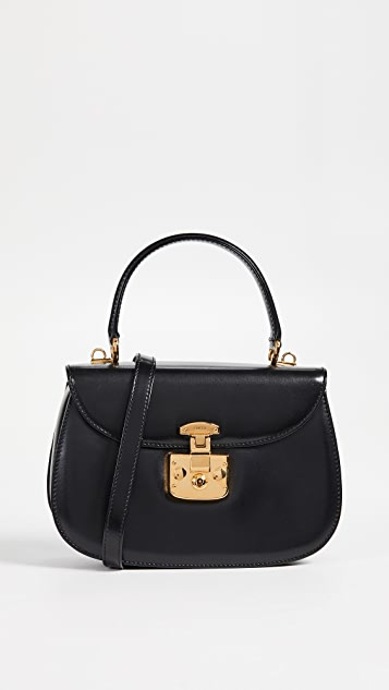 What Goes Around Comes Around Gucci Top Handle Bag - Black