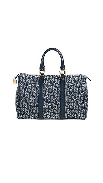 What Goes Around Comes Around Dior Canvas Boston Duffel Bag