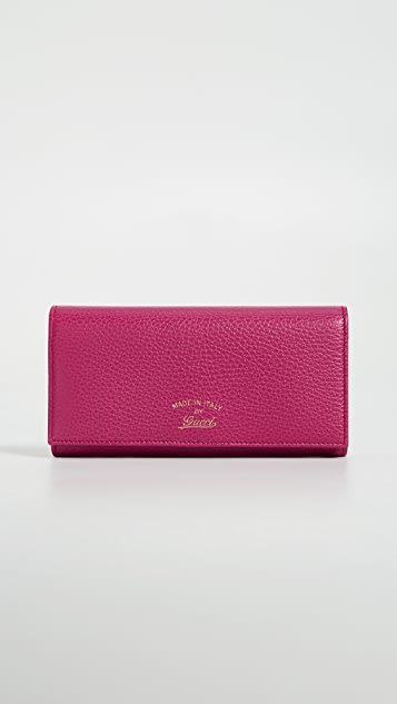 What Goes Around Comes Around Gucci Continental Wallet - Pink