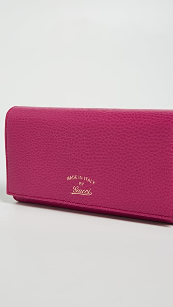 What Goes Around Comes Around Gucci Continental Wallet